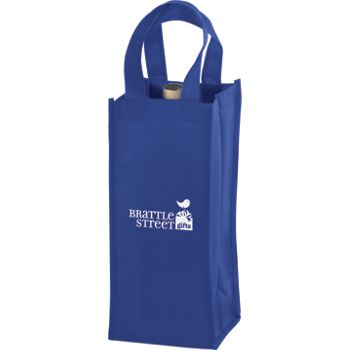 Royal Blue One Bottle Non-Woven Wine Bags, 5 x 5 x 12""