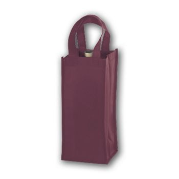 Burgundy Unprinted One Bottle Non-Woven Wine Bags