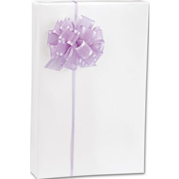 White Gloss Jeweler's Roll Gift Wrap, 7 3/8