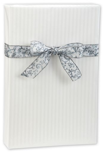 Pearl Stripe Jeweler's Roll Gift Wrap, 7 3/8