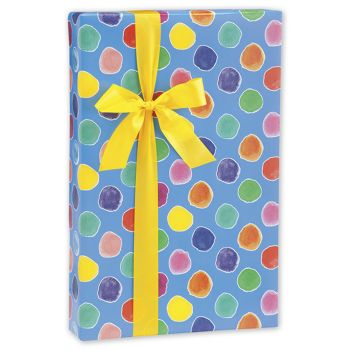 Painted Polka Dots Gift Wrap, 24