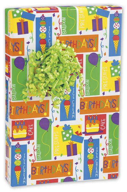 "My Birthday Gift Wrap, 24"" x 417'"