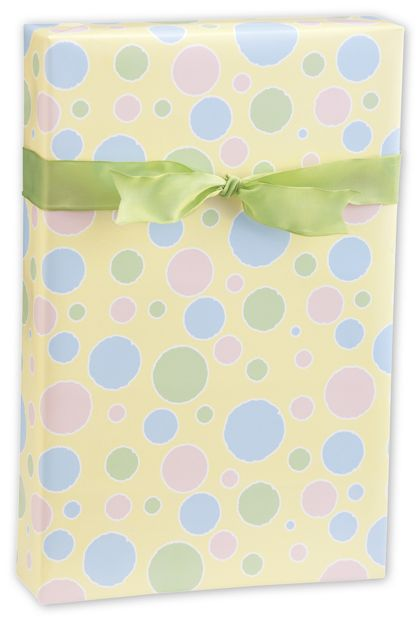 "Baby Dots Gift Wrap, 24"" x 417'"