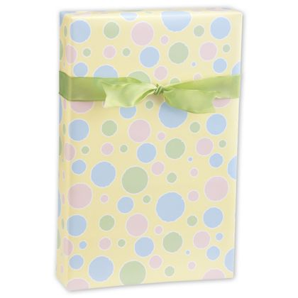 """Baby Dots Gift Wrap, 24"""" x 417'"""