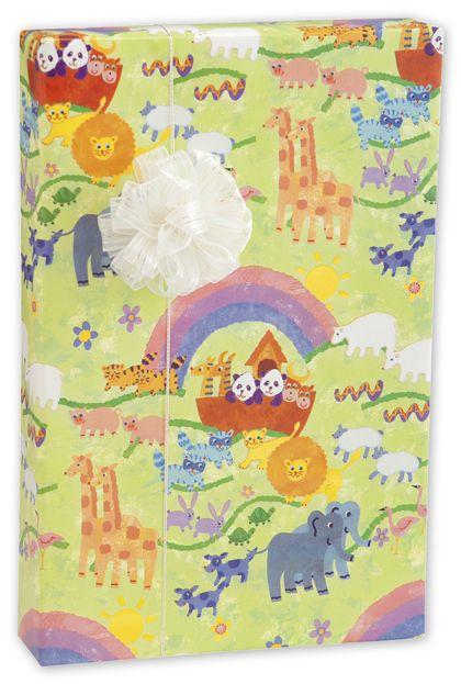 "Noah's Ark Gift Wrap, 24"" x 417'"