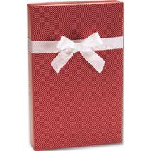"Red Swiss Jeweler's Roll Gift Wrap, 7 3/8"" x 100'"