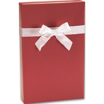 "Red Swiss Jeweler's Roll Gift Wrap, 7 3/8"" x 100'"
