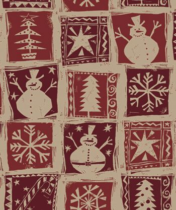 Homespun Christmas Kraft Gift Wrap, 24