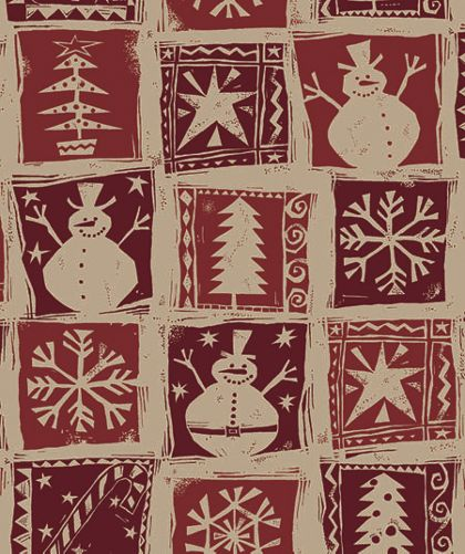 "Homespun Christmas Kraft Gift Wrap, 24"" x 100'"