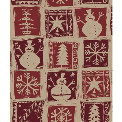 """Homespun Christmas Kraft Gift Wrap, 24"""" x 100'"""