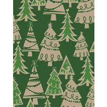 """Holiday Forest/Kraft Gift Wrap, 24"""" x 100'"""