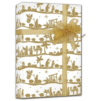 "Nativity Gift Wrap, 24"" x 100'"