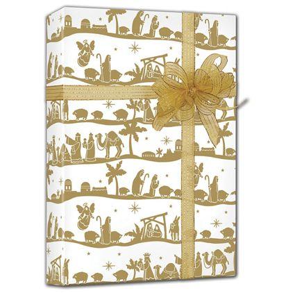 "Nativity Gift Wrap, 24"" x 417'"