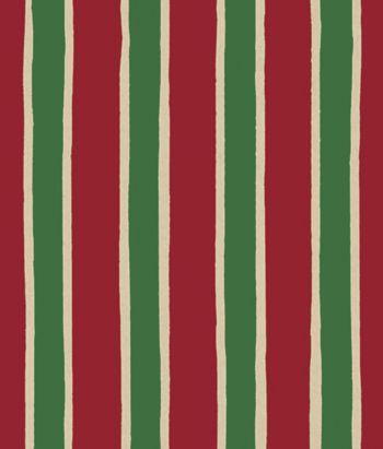 Christmas Stripe/Kraft Gift Wrap, 24