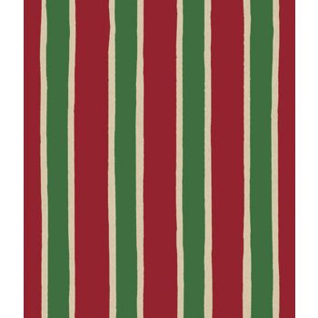 Christmas Stripe/Kraft Gift Wrap, 24