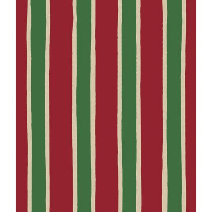 "Christmas Stripe/Kraft Gift Wrap, 24"" x 100'"