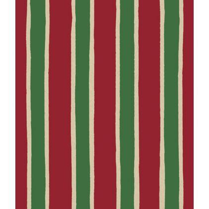 "Christmas Stripe/Kraft Gift Wrap, 24"" x 100'"