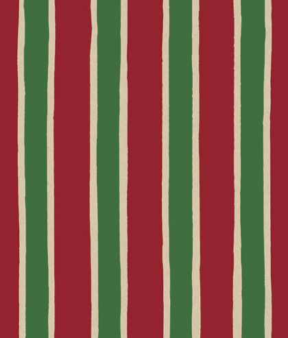 "Christmas Stripe/Kraft Gift Wrap, 24"" x 417'"
