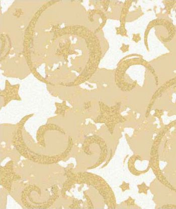 Gold Stars & Swirls Gift Wrap, 24