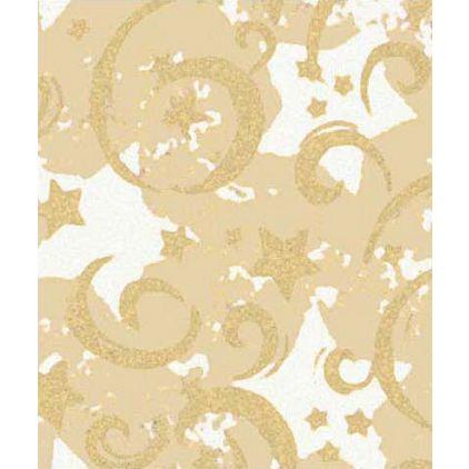 "Gold Stars & Swirls Gift Wrap, 24"" x 417'"
