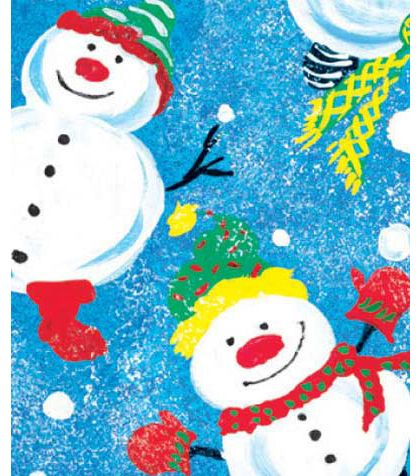 "Frosty Friends Gift Wrap, 24"" x 417'"