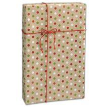 "Dotty Kraft Christmas Gift Wrap, 24"" x 100'"