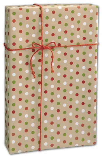 Dotty Kraft Christmas Gift Wrap, 24