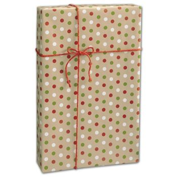 Dotty Kraft Christmas Gift Wrap, 24