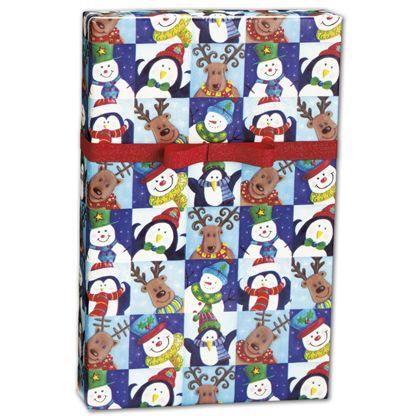 """Winter Fun Gift Wrap, 24"""" x 100'"""