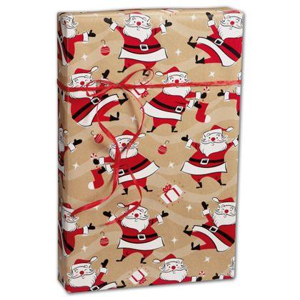 "Swingin' Santa Kraft Gift Wrap, 24"" x 100'"