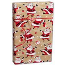 "Swingin' Santa Kraft Gift Wrap, 24"" x 417'"