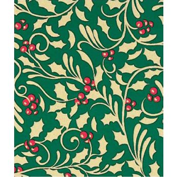 Golden Holly Gift Wrap, 24
