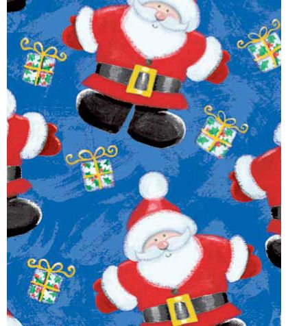 "Jolly St Nick Gift Wrap, 24"" x 417'"