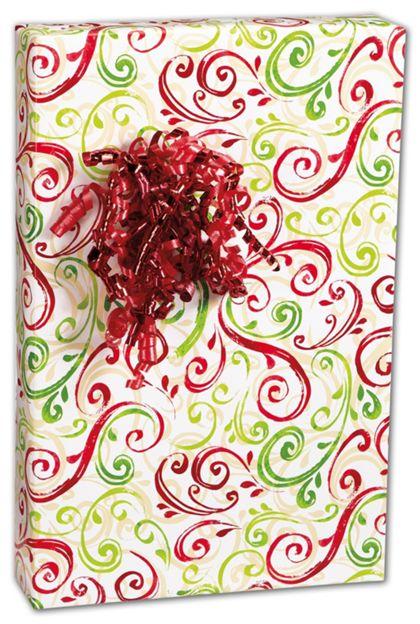 """Christmas Swirl Gift Wrap, 24"""" x 100'"""