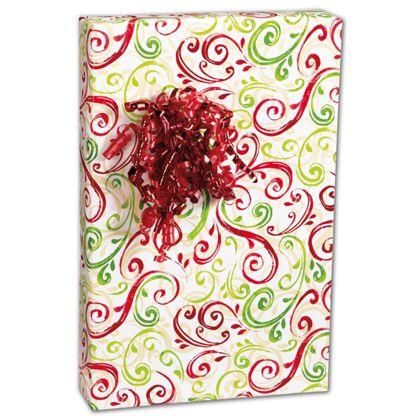 """Christmas Swirl Gift Wrap, 24"""" x 417'"""