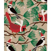 "Snowbirds/Kraft Gift Wrap, 24"" x 417'"