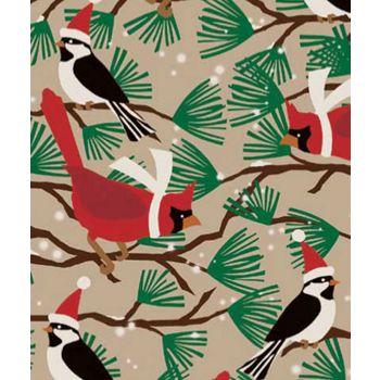 Snowbirds/Kraft Gift Wrap, 24