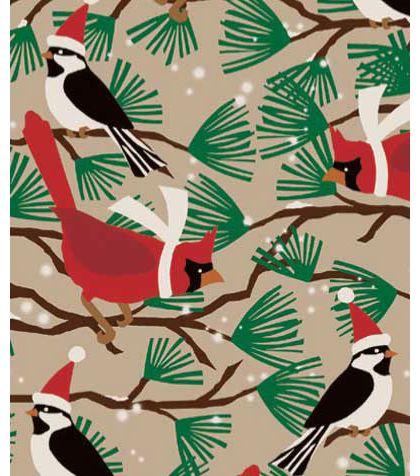 "Snowbirds/Kraft Gift Wrap, 24"" x 100'"