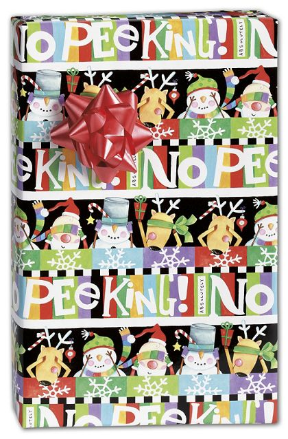 "Absolutely No Peeking Gift Wrap, 24"" x 100'"