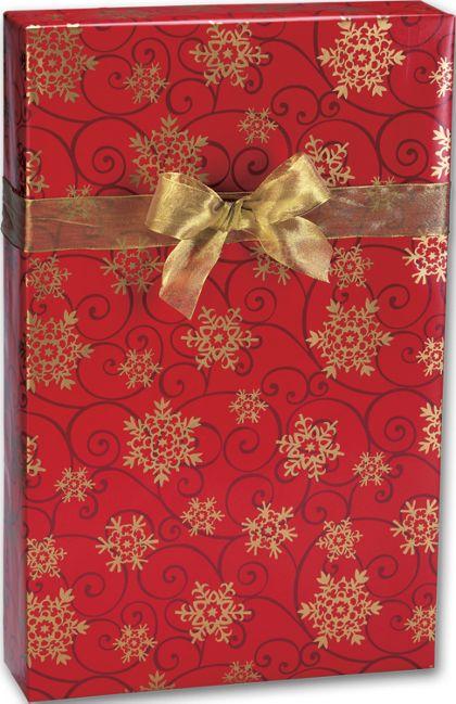 """Snowflake Medallions Gift Wrap, 24"""" x 100'"""