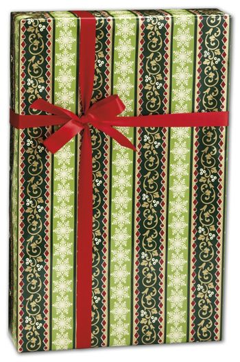Holiday Stripe Gift Wrap, 24