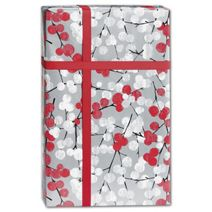 """Winter Branches Gift Wrap, 24"""" x 100'"""