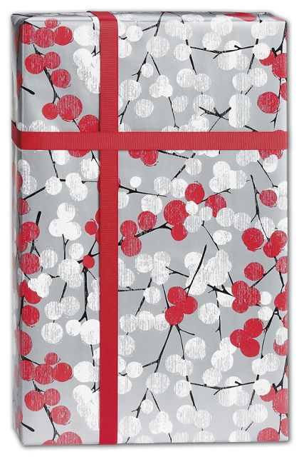 "Winter Branches Gift Wrap, 24"" x 100'"