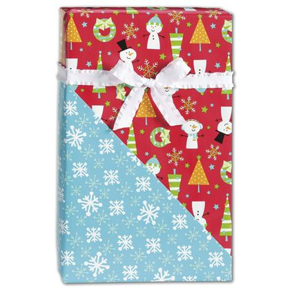 "Snow Buddies Reversible Gift Wrap, 24"" x 417'"
