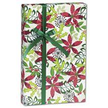 "Christmas Flora Gift Wrap, 24"" x 100'"