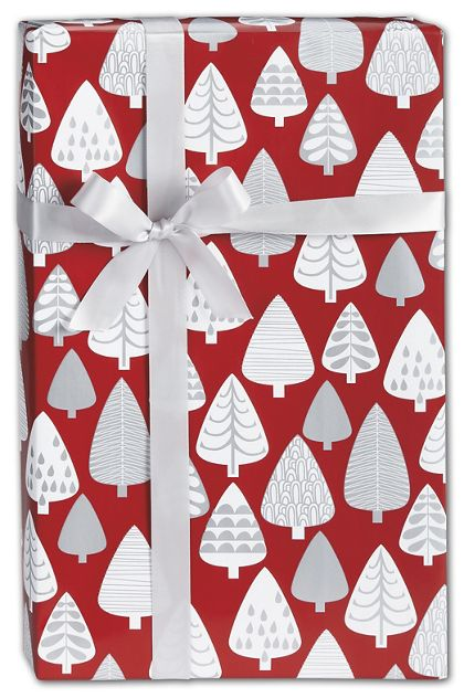 "Silver Forest Gift Wrap, 24"" x 100'"
