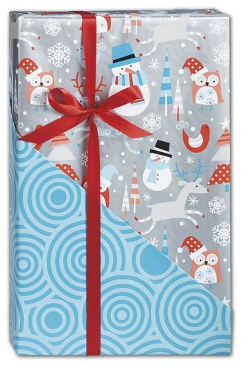 Snowplay Reversible Gift Wrap, 24