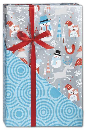 Snowplay Reversible Gift Wrap, 24
