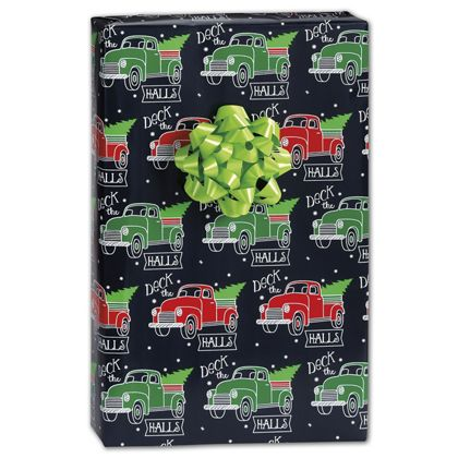 "Deck the Halls Gift Wrap, 24"" x 100'"