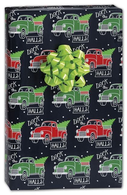 "Deck the Halls Gift Wrap, 24"" x 417'"